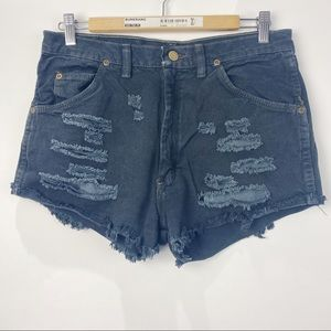 Wrangler high waisted distressed  jean shorts
